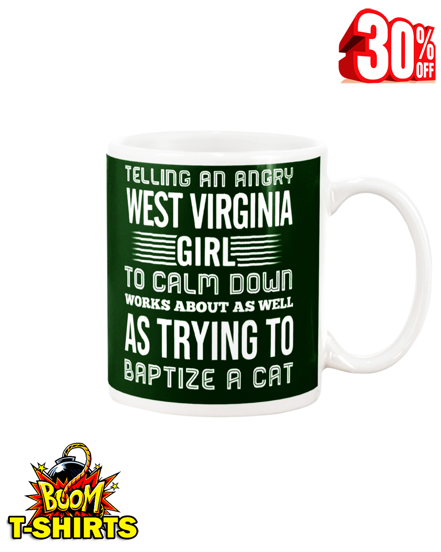 Telling an angry West Virginia girl mug - forest green