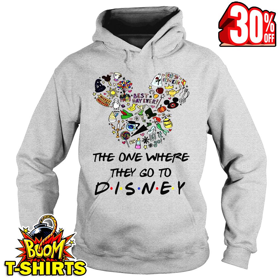 The one where they go to Disney friends parody hoodie