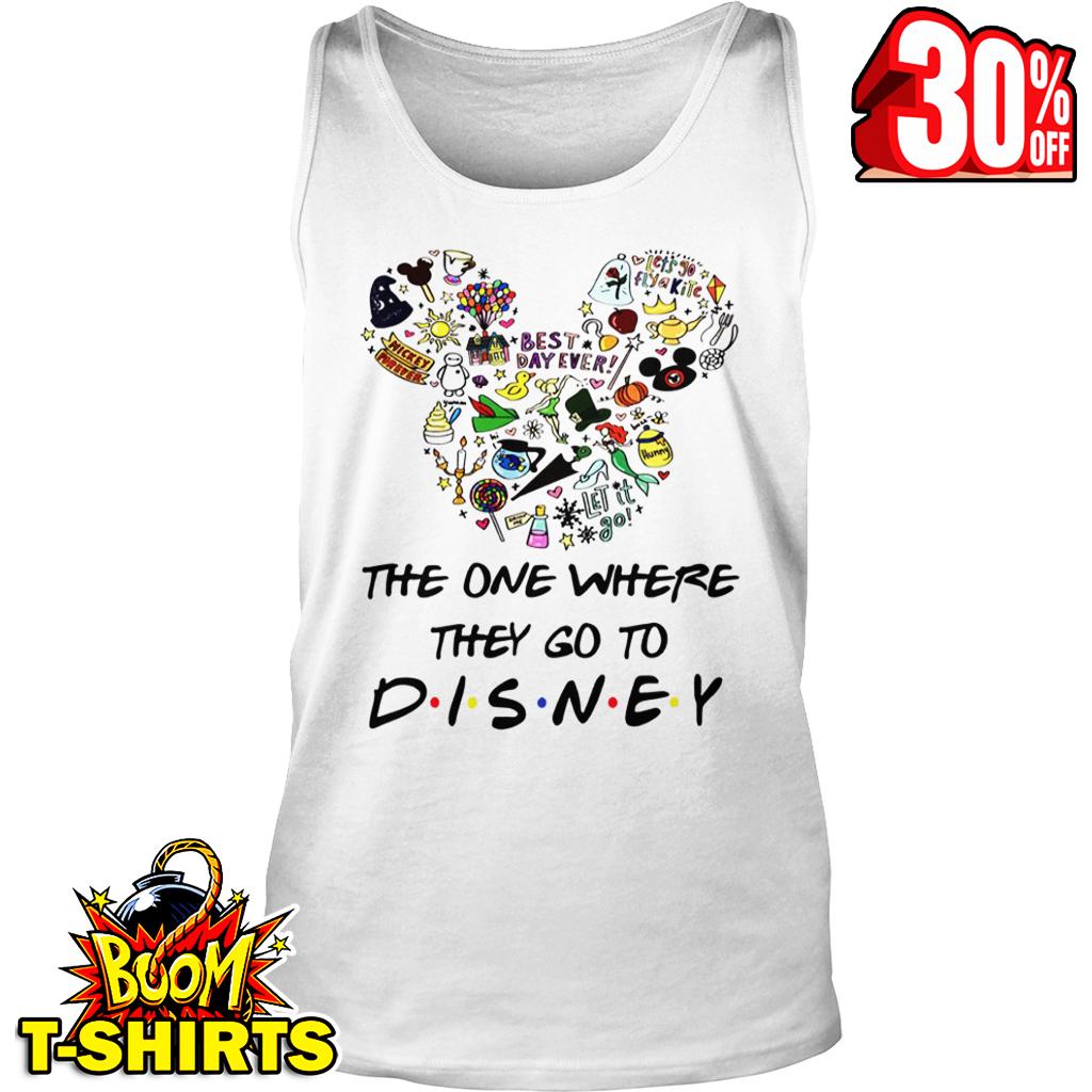 The one where they go to Disney friends parody tank top