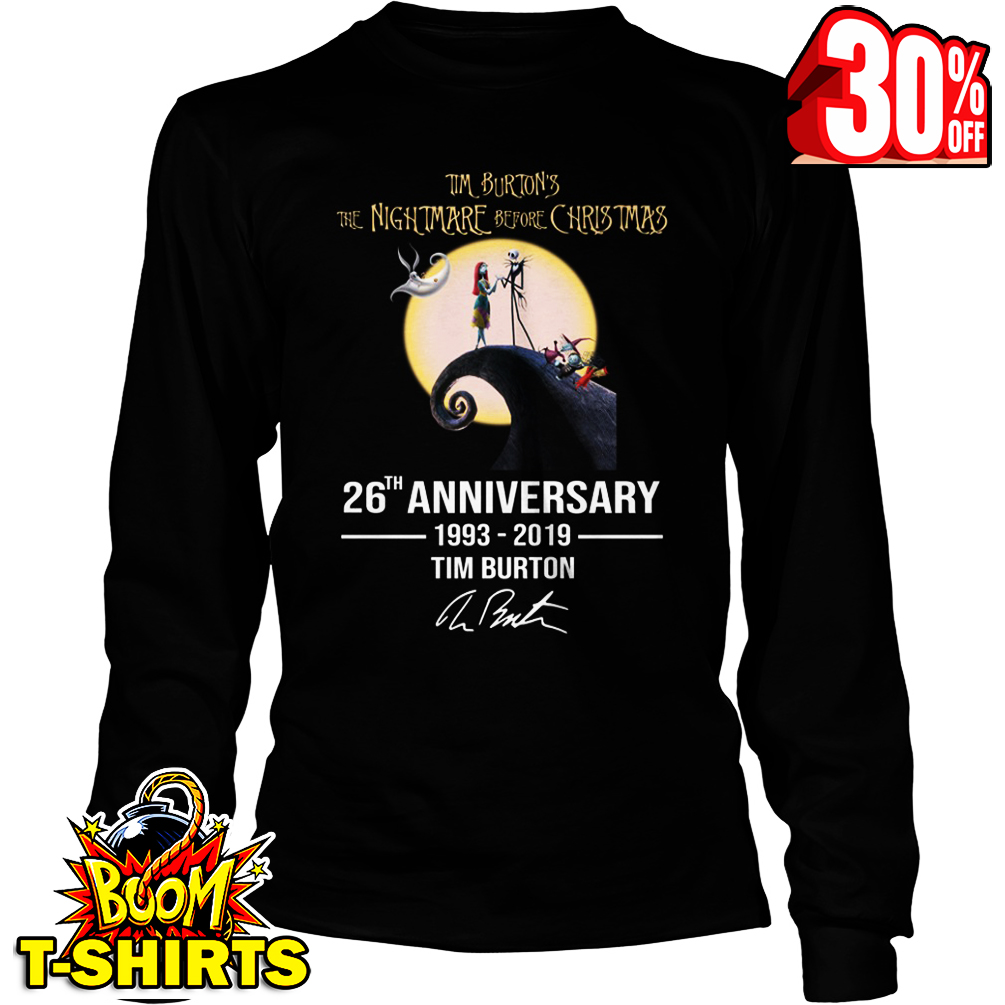 Tim Burton's The Nightmare before Christmas 26th anniversary 1993-2019 signature long sleeve tee