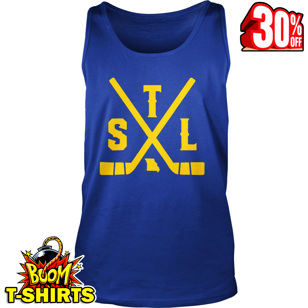 Vintage St. Louis Ice Hockey Sticks State Outline tank top
