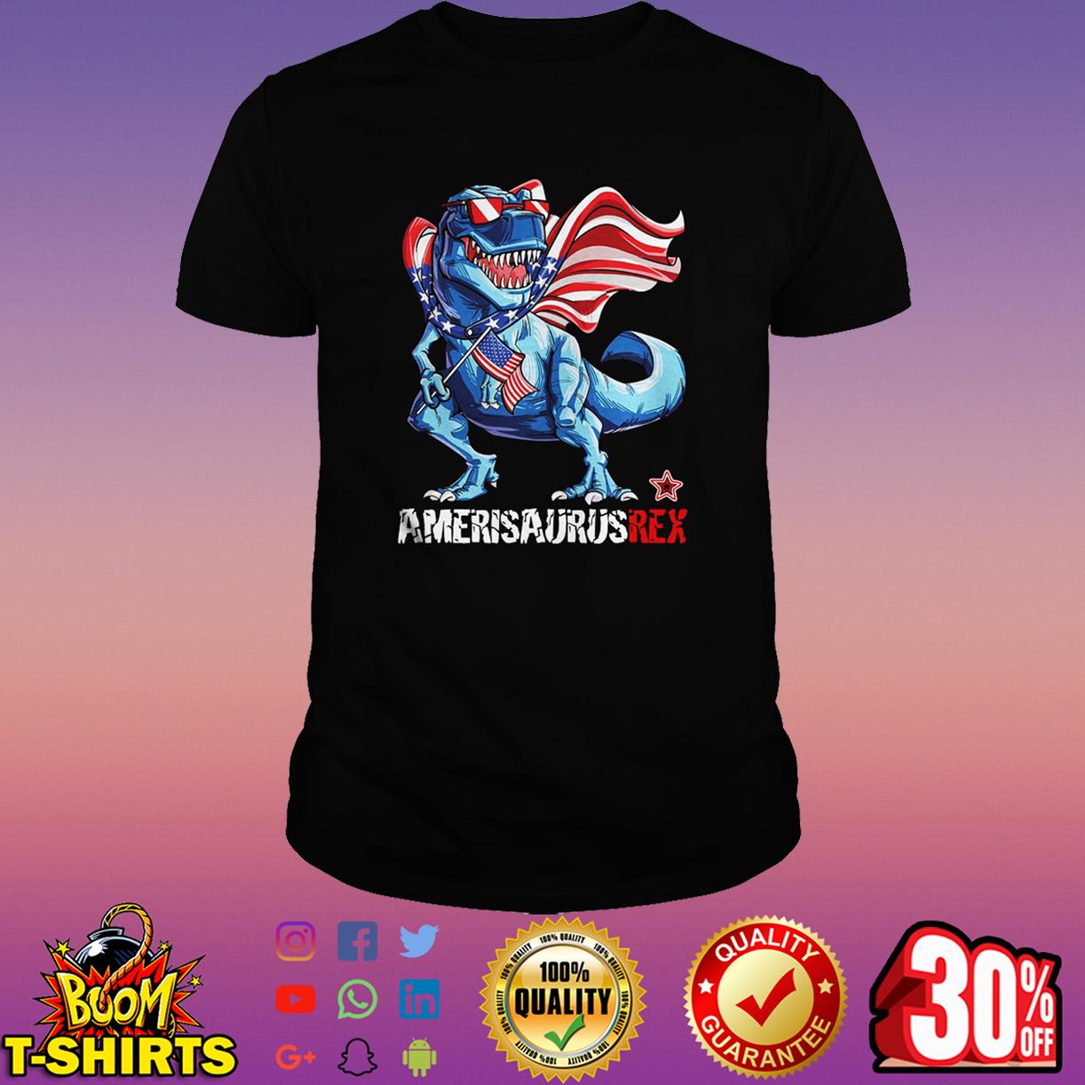 Amerisaurusrex american flag 4th of july shirt