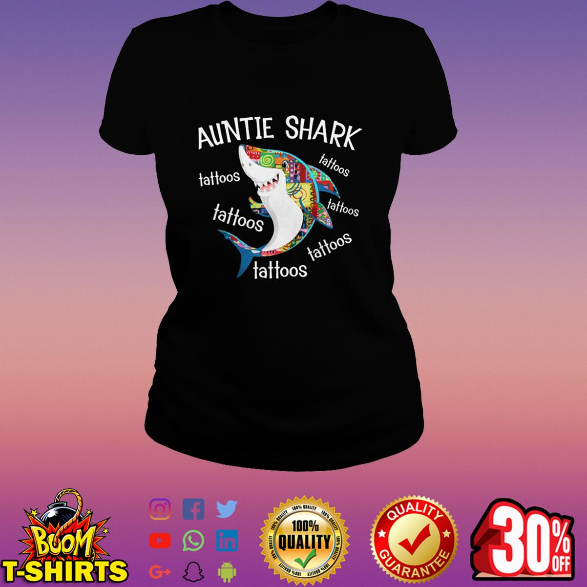Auntie Shark tattoos tattoos shirt
