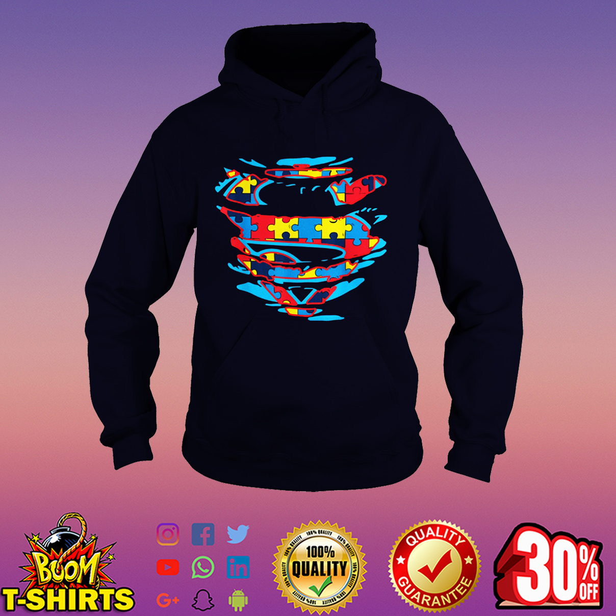 Autism Superman hoodie