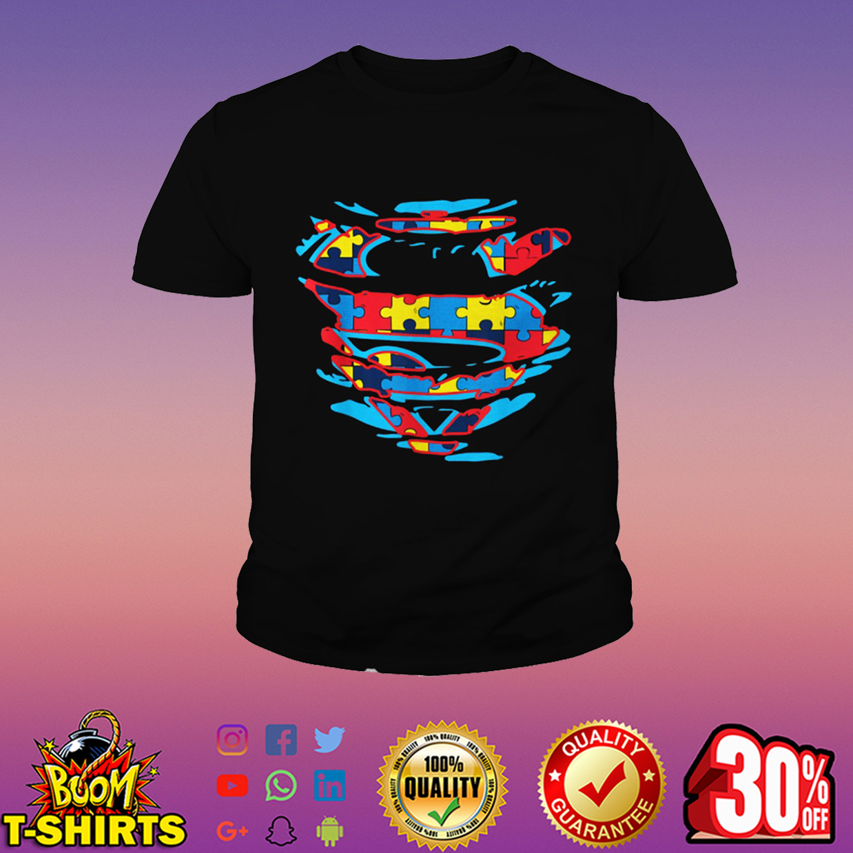 Autism Superman youth tee
