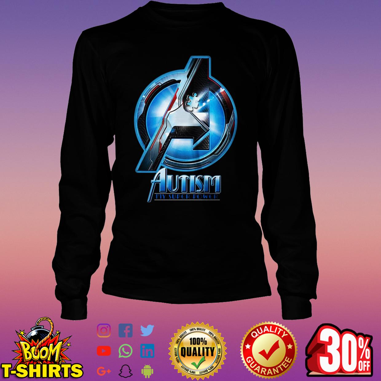 Avengers autism my super power long sleeve tee