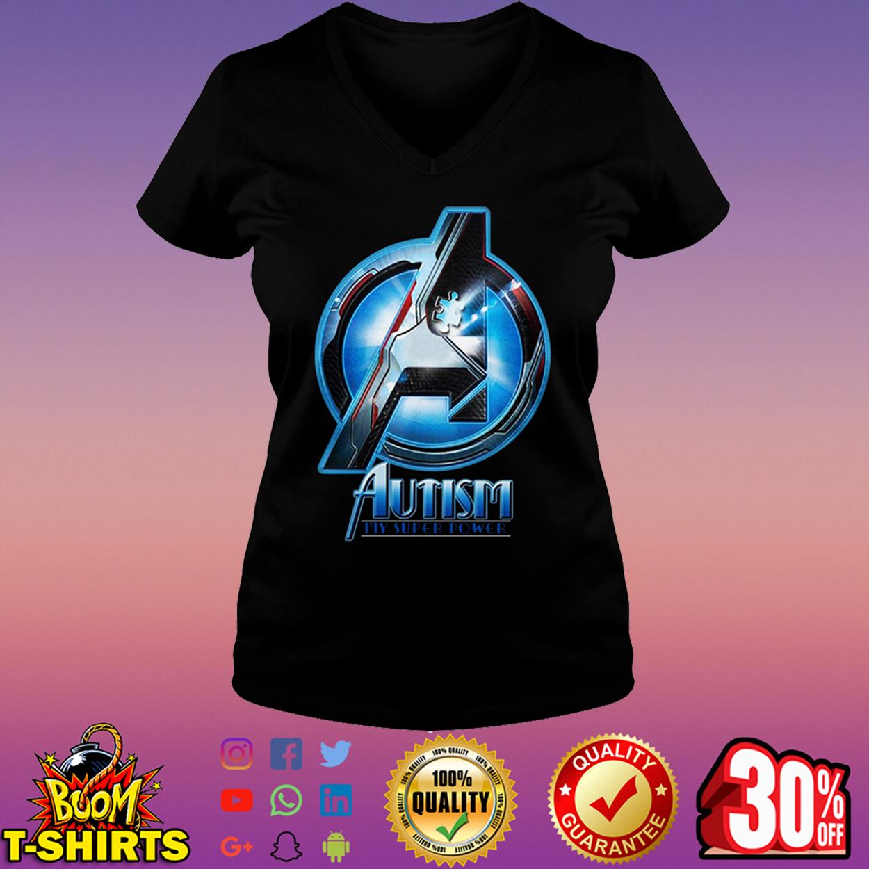 Avengers autism my super power v-neck