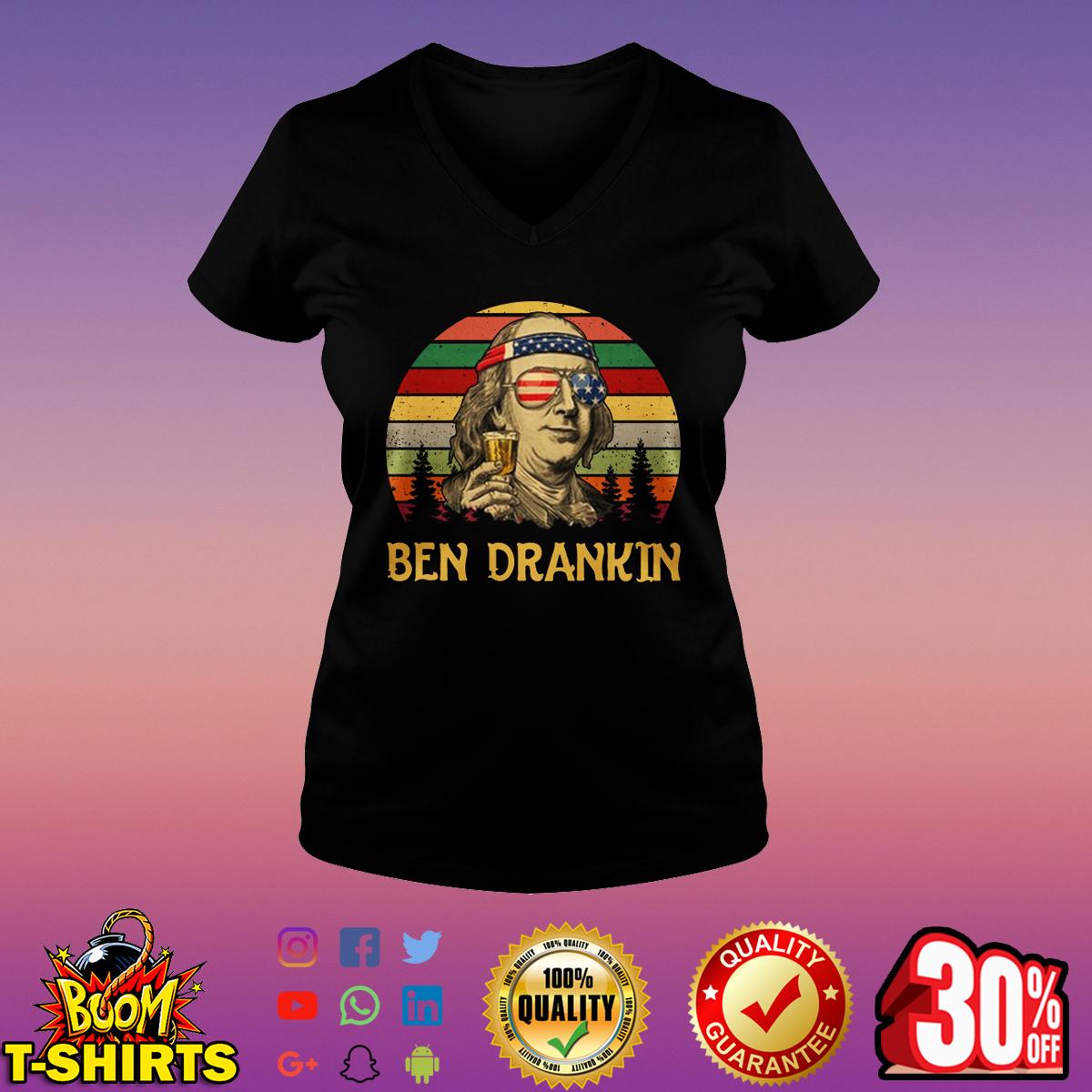 Ben Drankin 4th Of July vintage v-neck