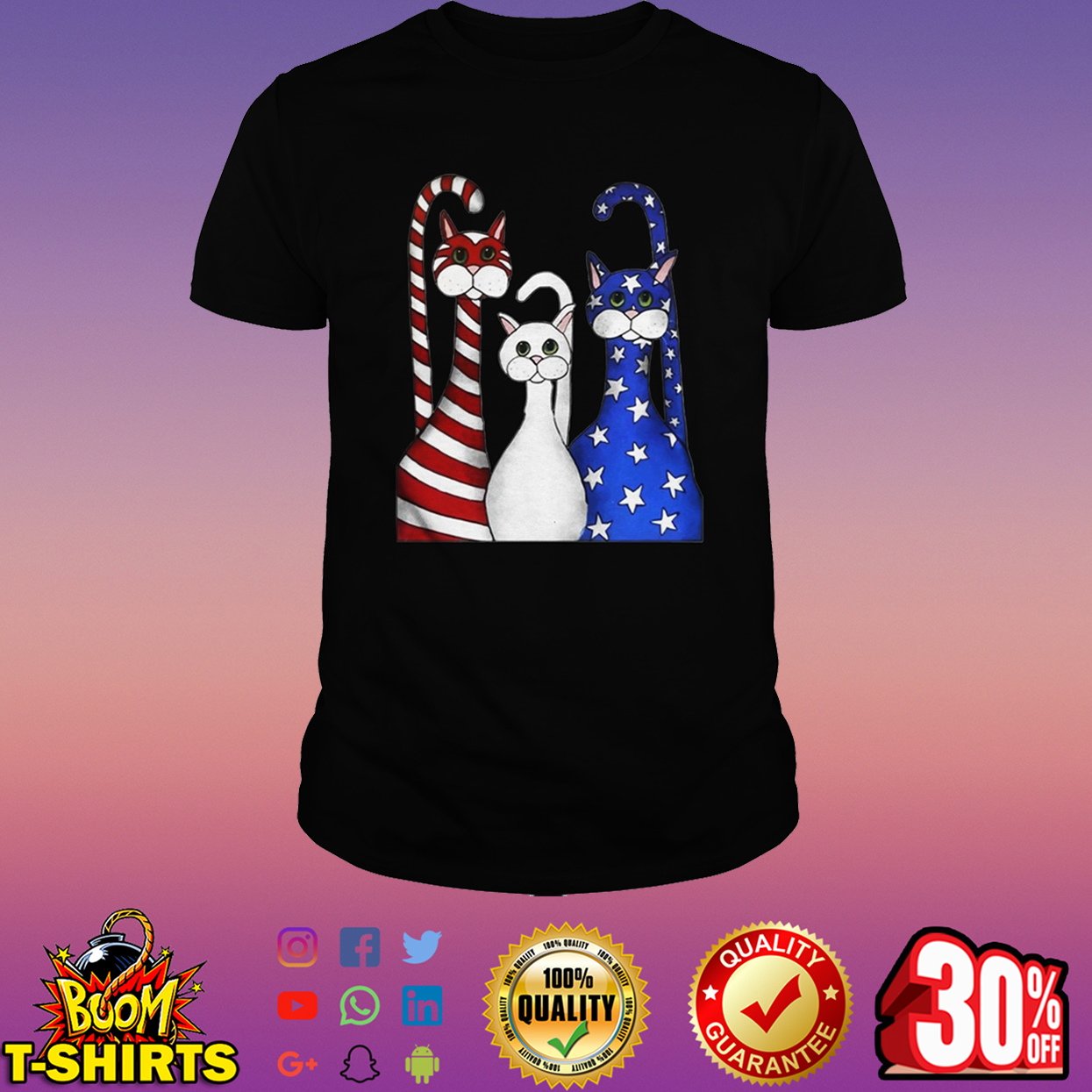 Cats 4th of July shirt