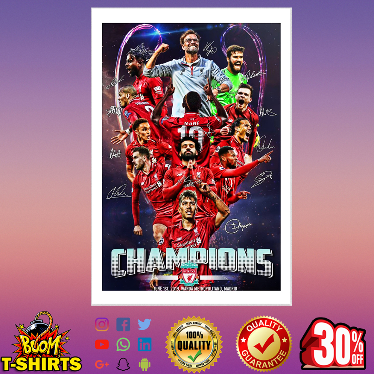 Champions League Liverpool Signature Poster