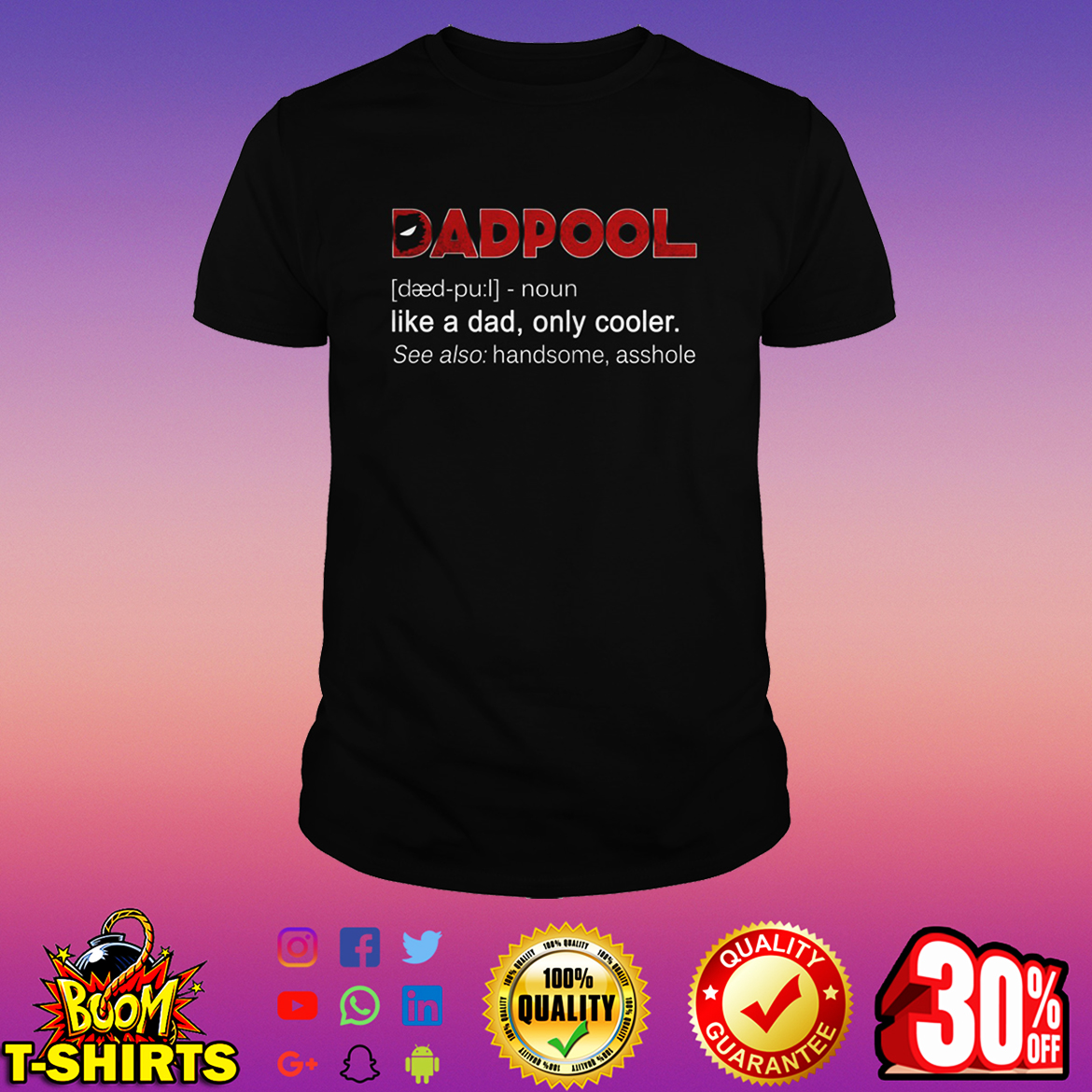 c9fab8d5 Top Selling) Dadpool like a dad only cooler shirt, v-neck and long ...