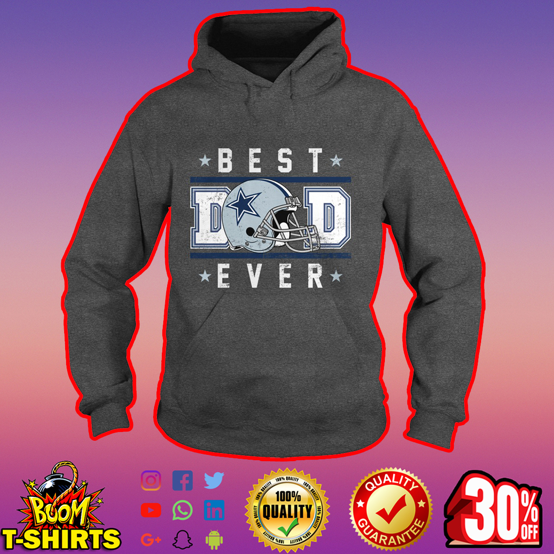 Dallas Cowboys Best Dad Ever hoodie