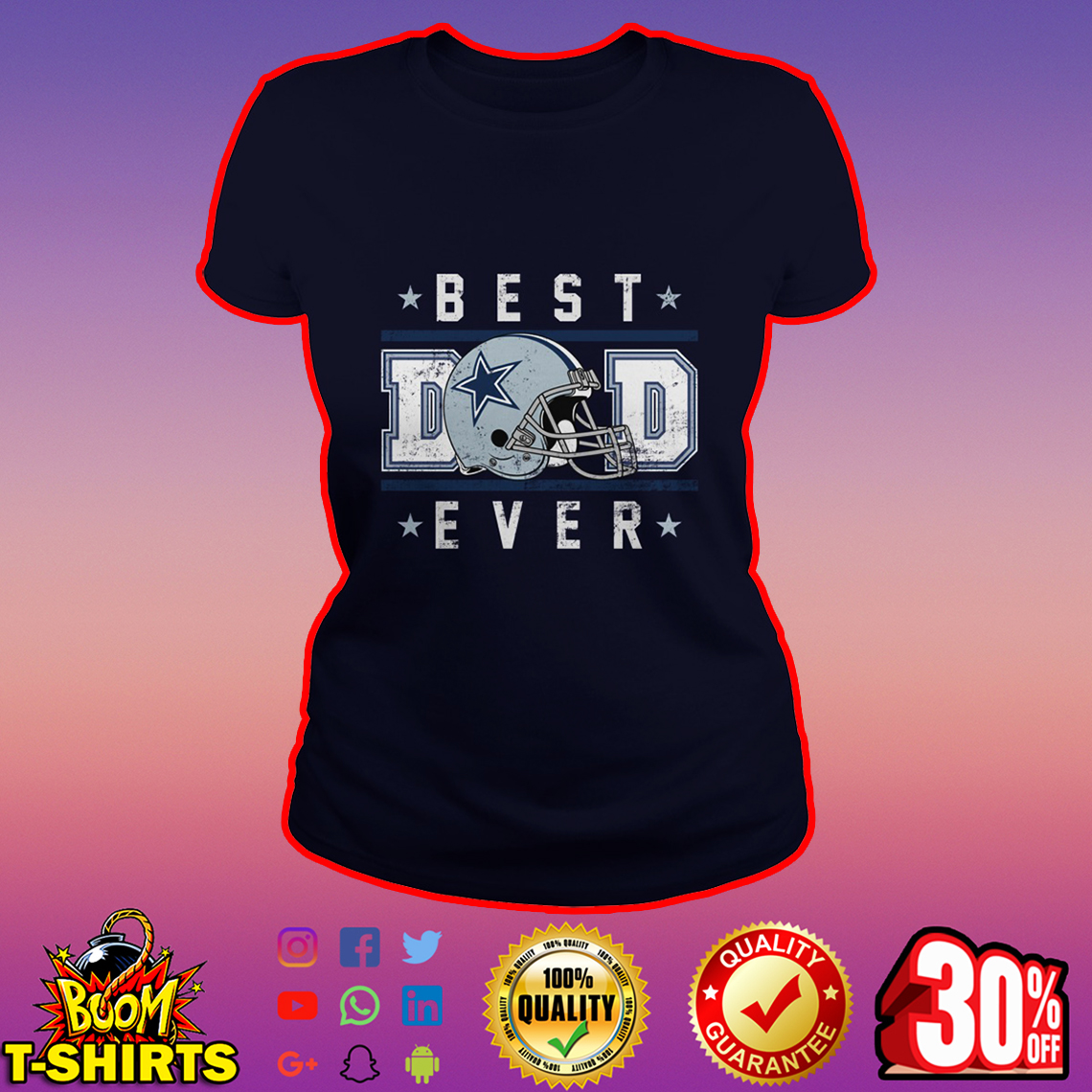 Dallas Cowboys Best Dad Ever lady shirt