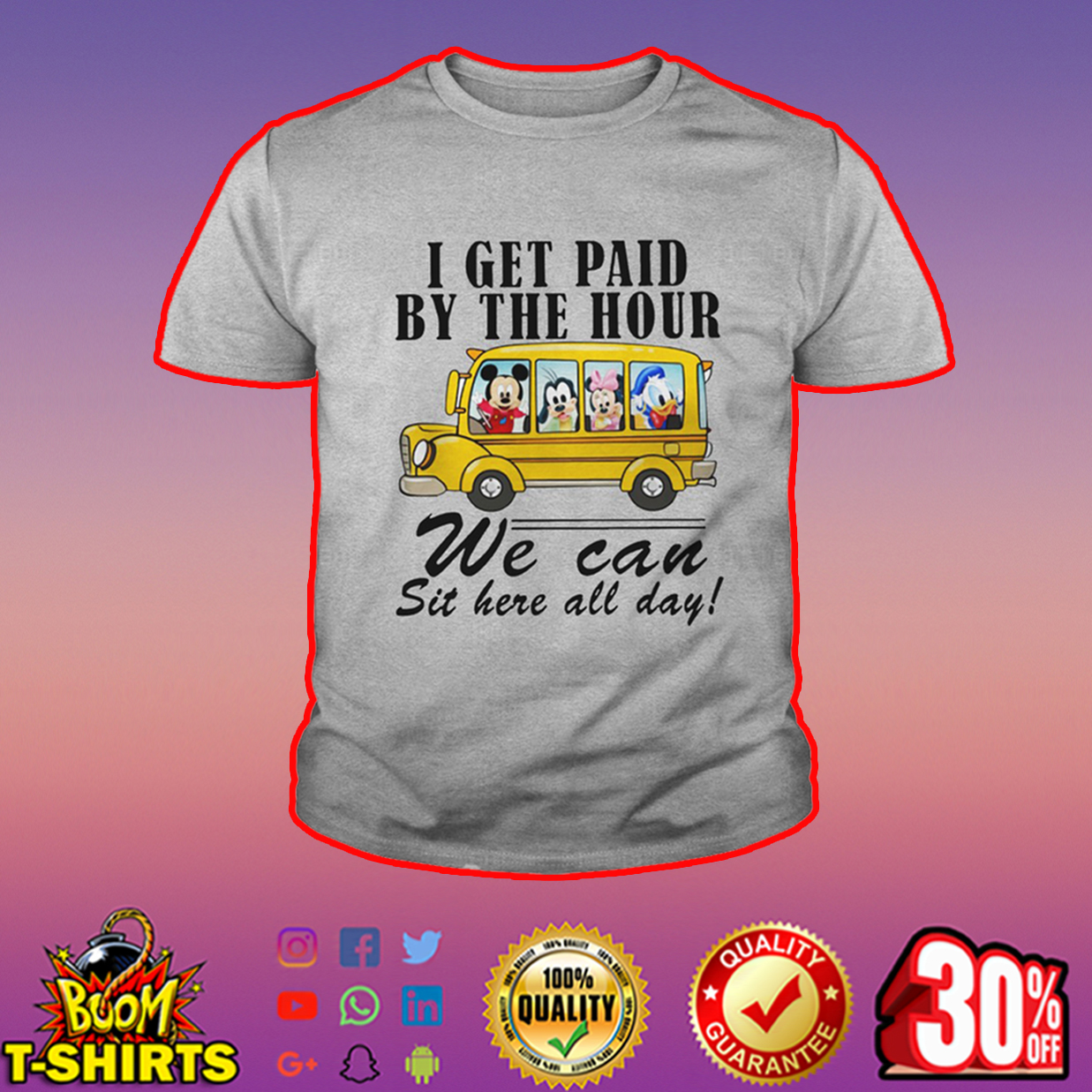 Disney I get paid by the hour we can sit here all day youth tee