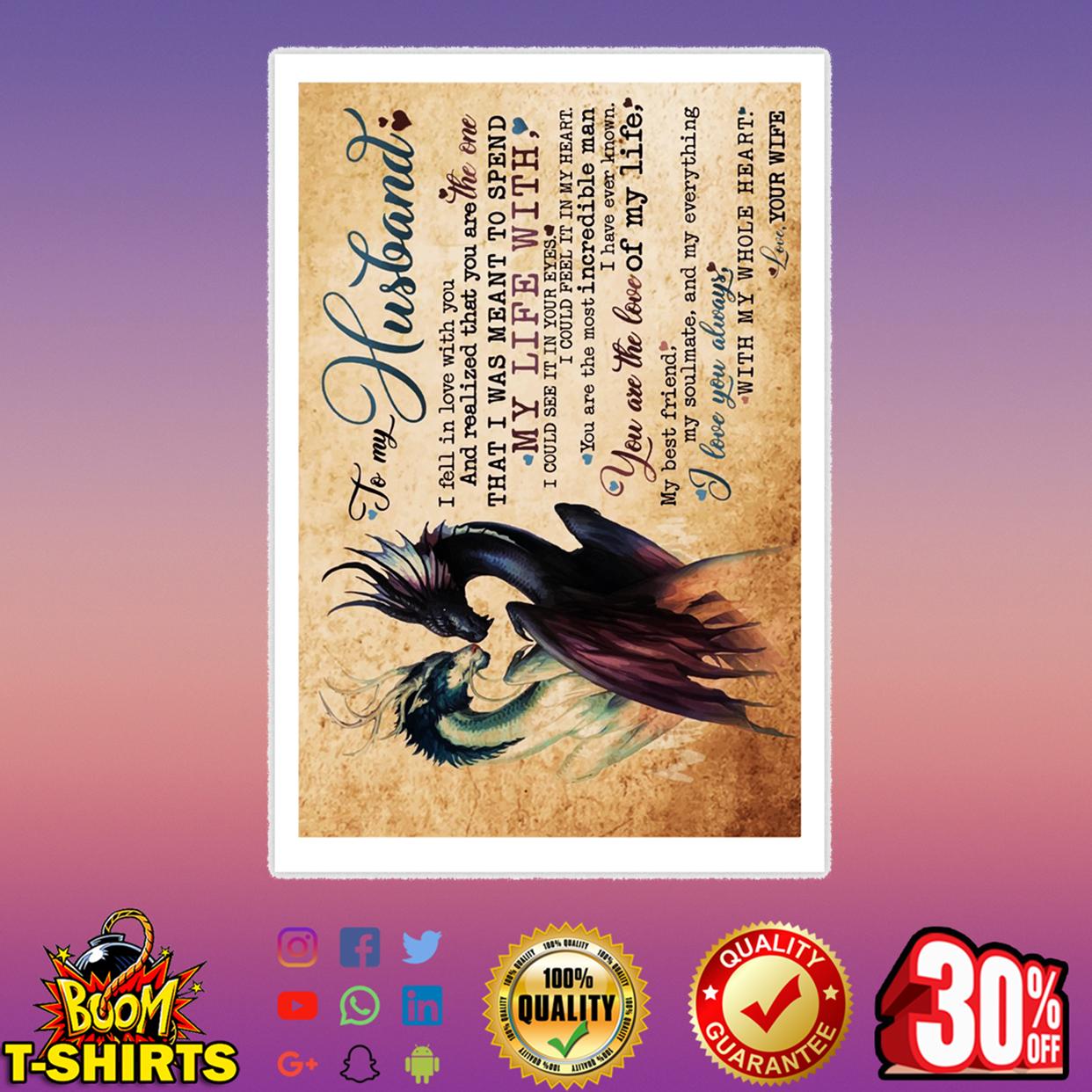 Dragon To my husband Poster 16x24