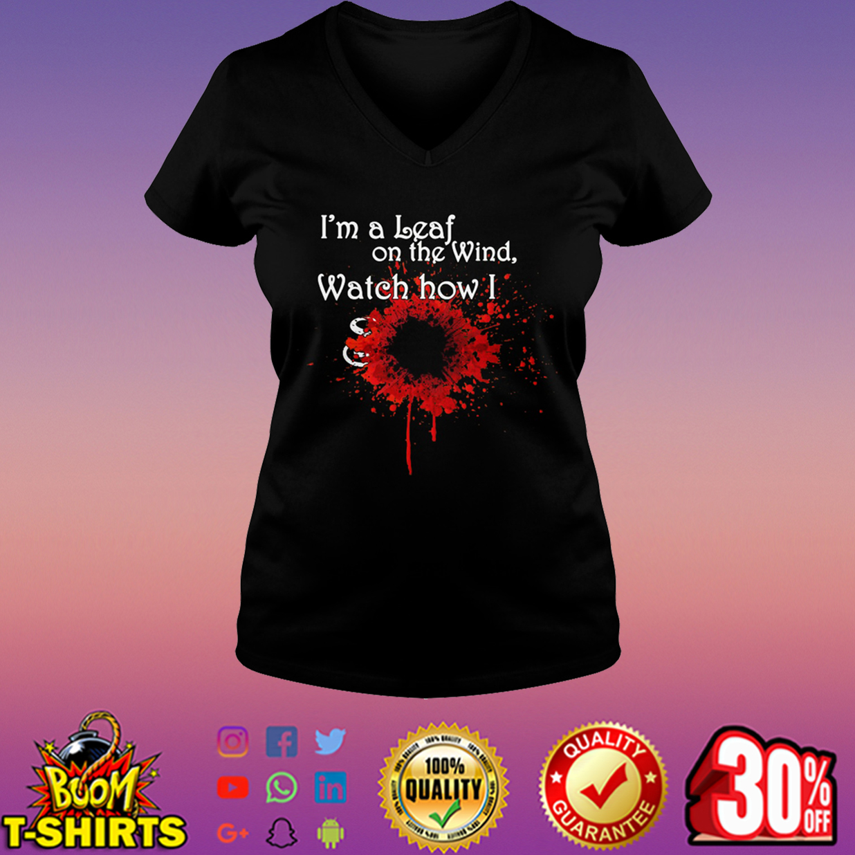 Firefly I'm a leaf on the wind watch how I soar v-neck