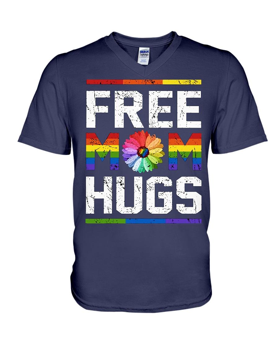 Free Mom Hugs LGBT v-neck t-shirt