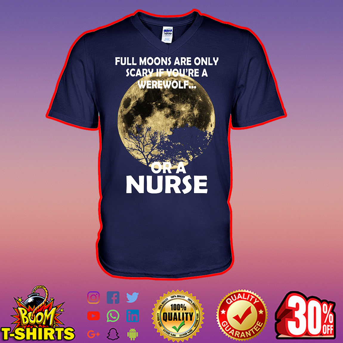 Full moons are only scary if you're a werewolf or a nurse v-neck