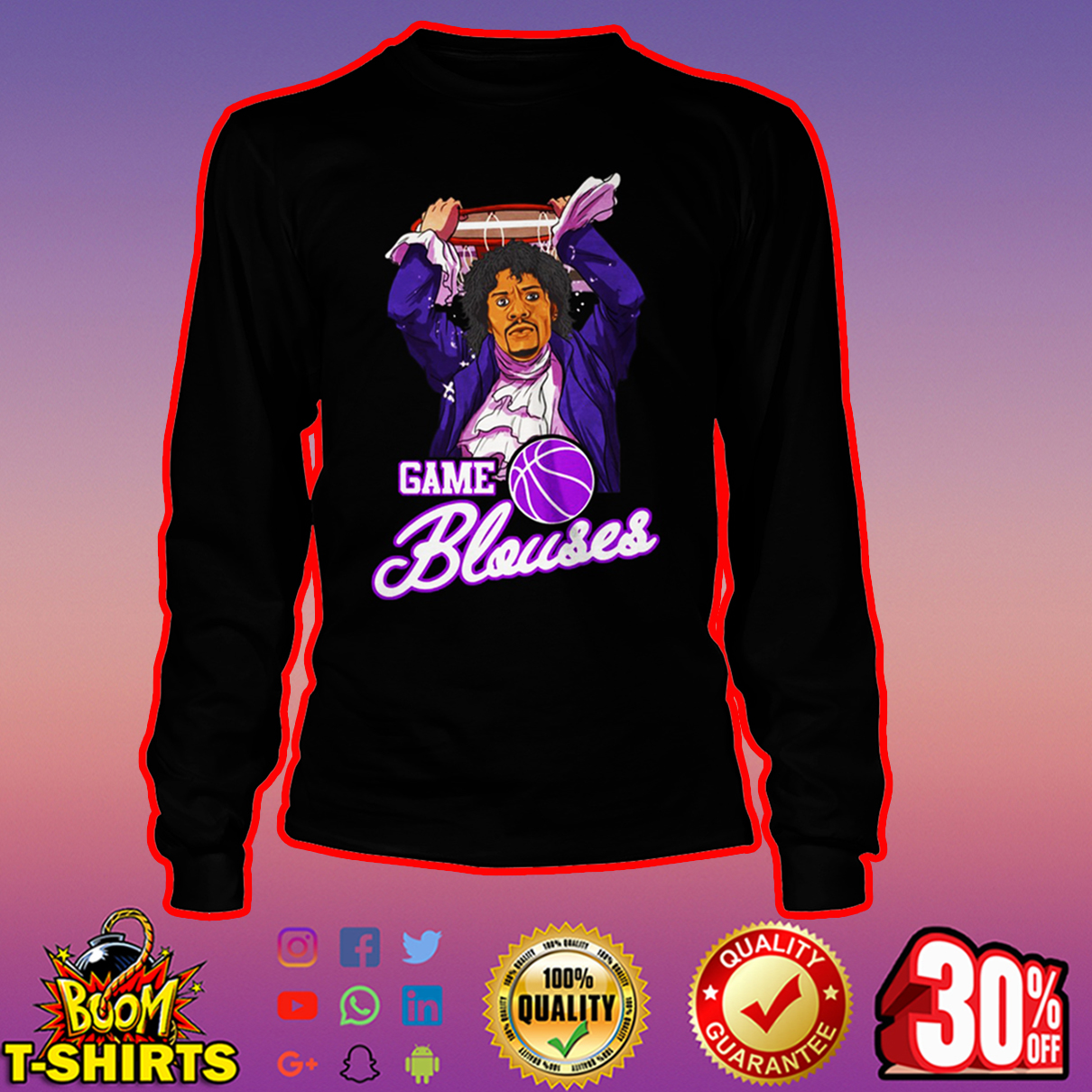 Game Blouses Chappelle's Show Charlie Murphy long sleeve tee