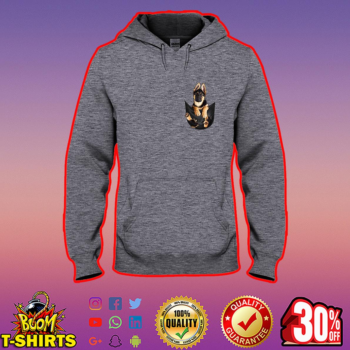 German Shepherd Pocket hooded sweatshirt