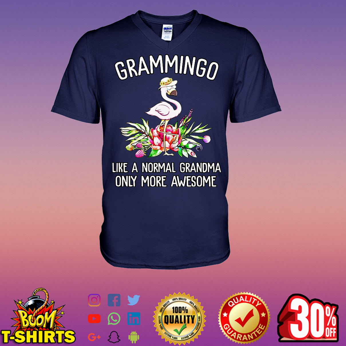Grammingo like a normal grandma only more awesome v-neck