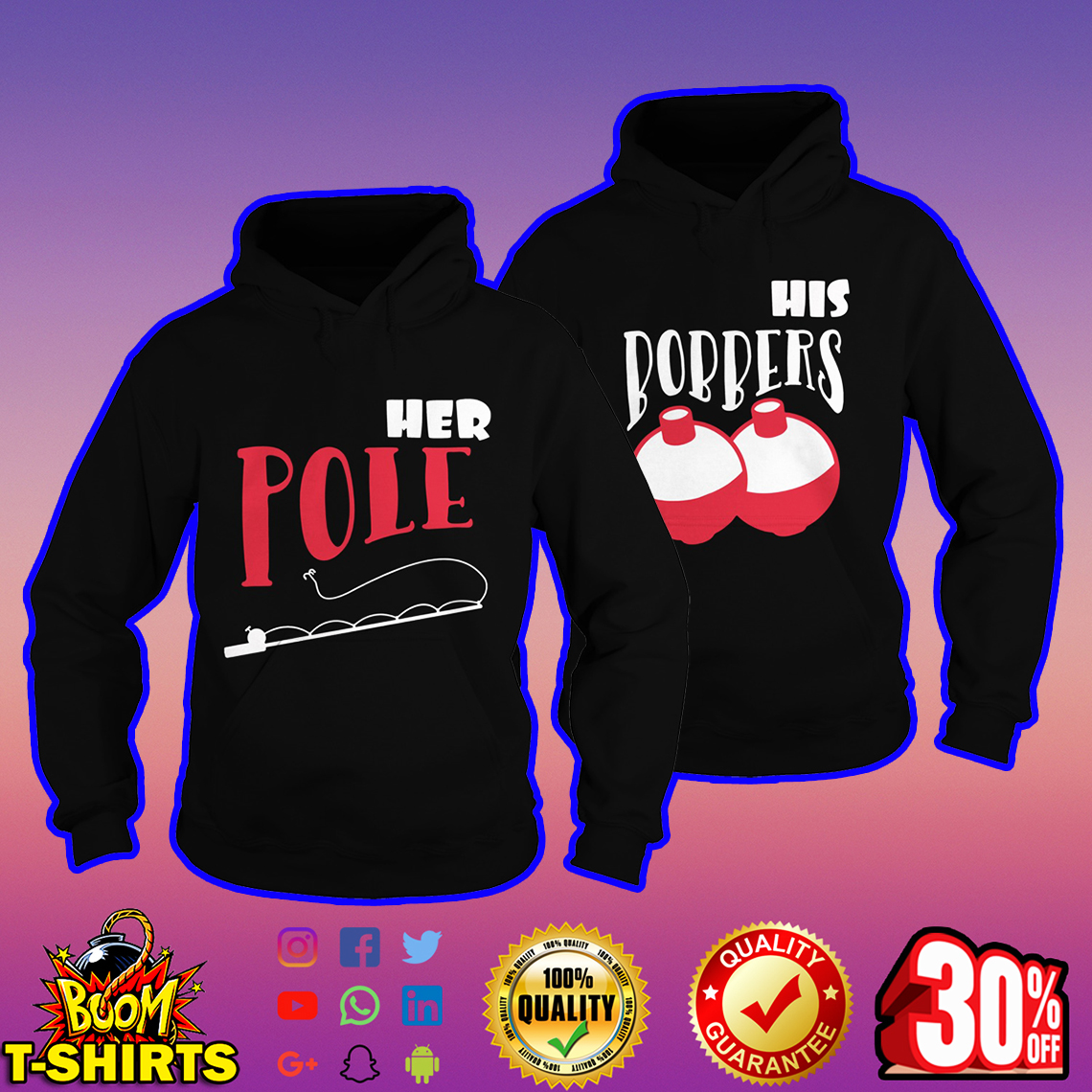 Her Pole-His bobbers hoodie