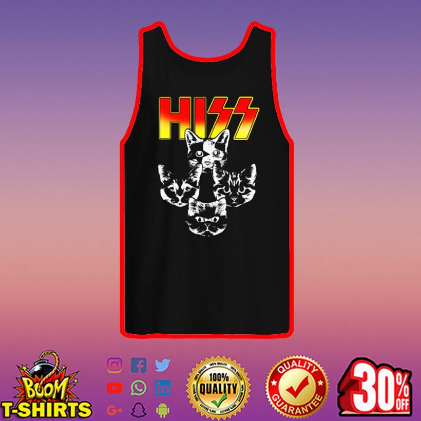 Hiss Cat Kiss Rock tank top
