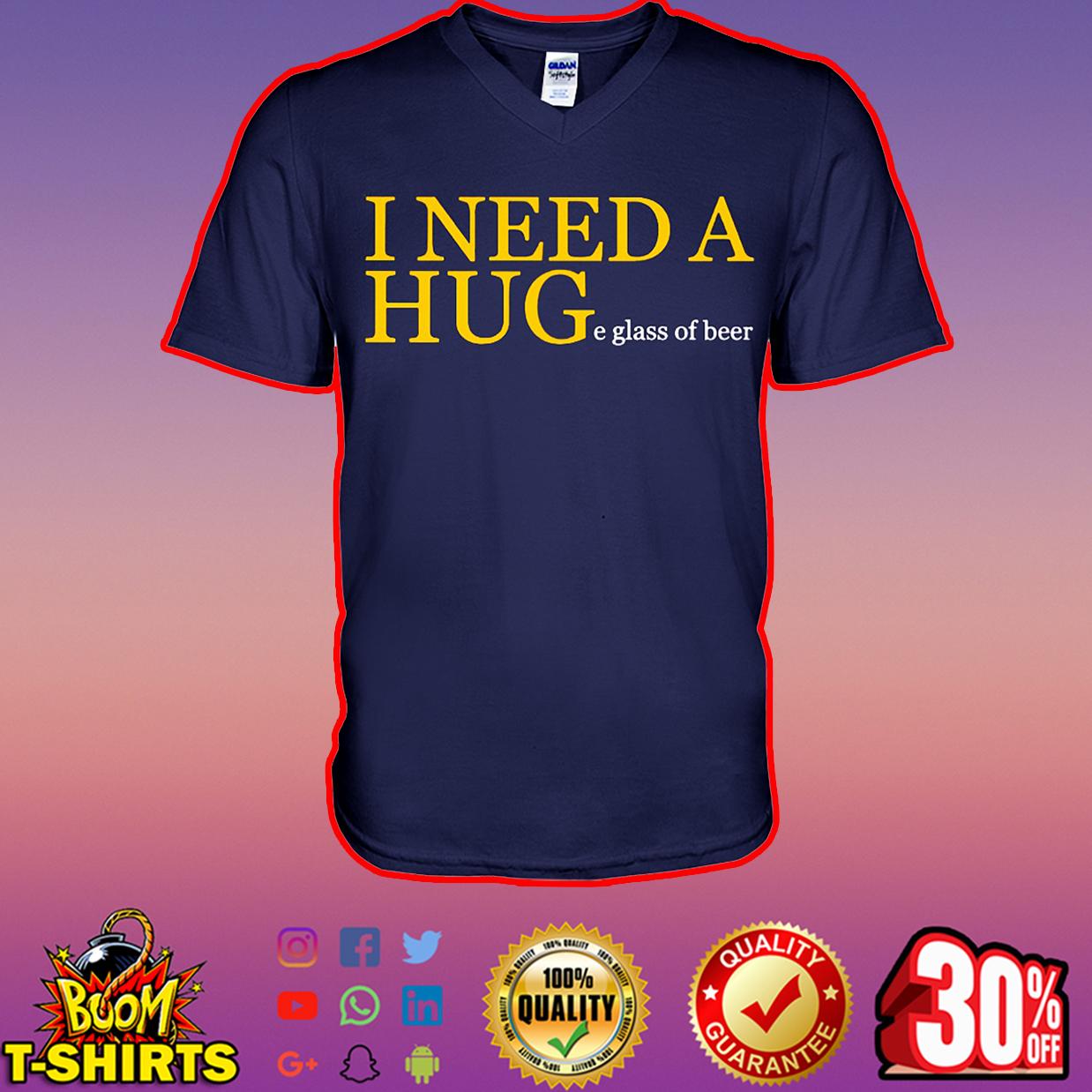 I need a huge glass of beer v-neck