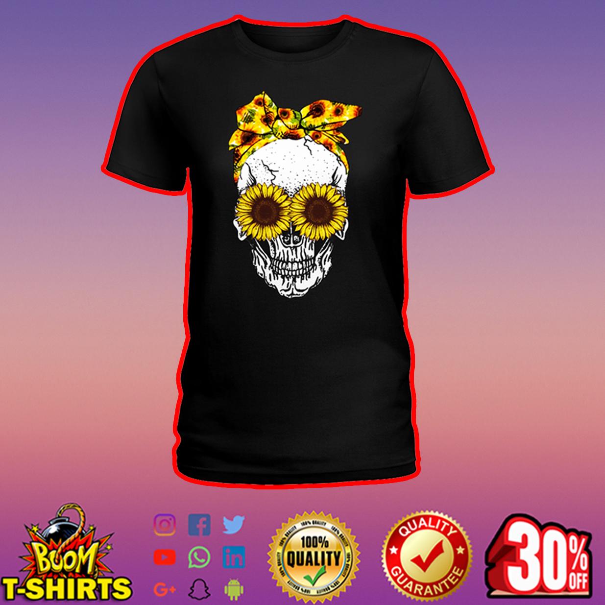Lady Skull Sunflower shirt