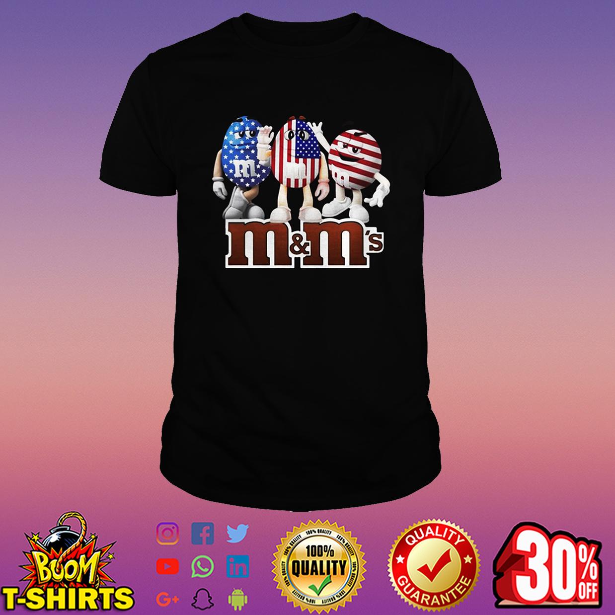 M&M's American Flag 4th of July shirt