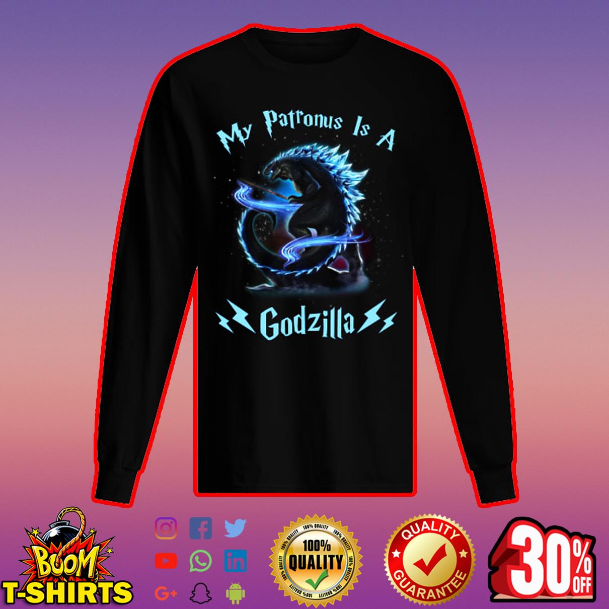 My patronus is a Godzilla long sleeved t-shirt