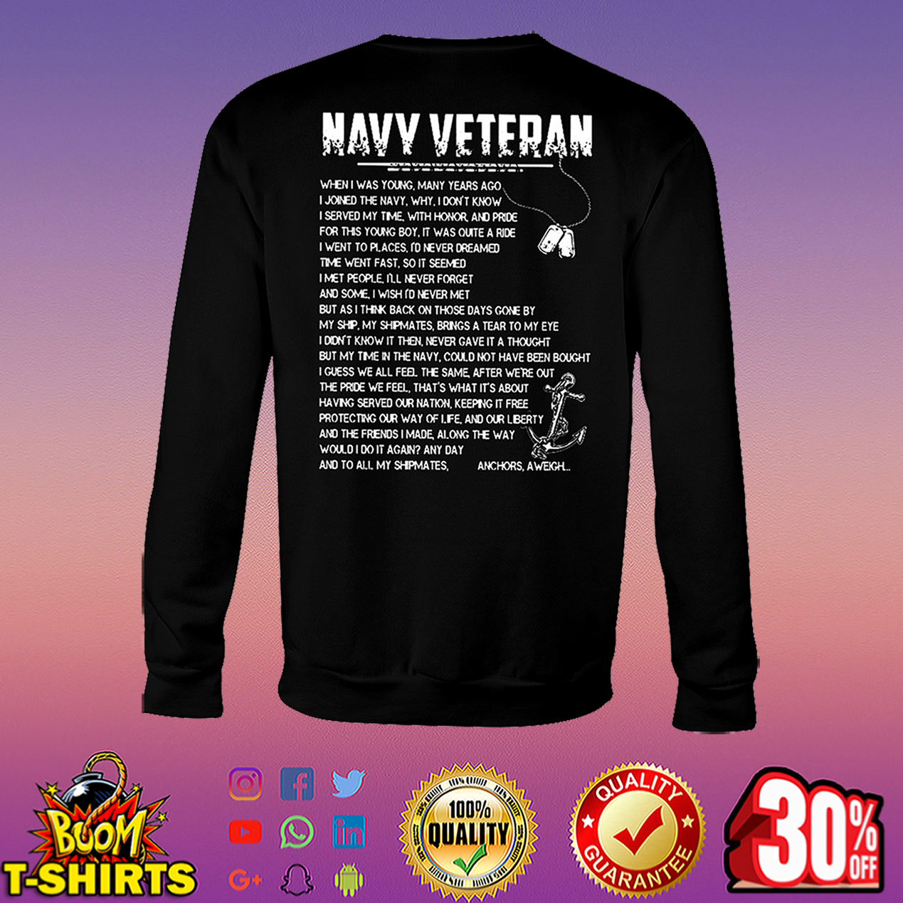 Navy veteran when I was young many years ago I joined the navy sweatshirt