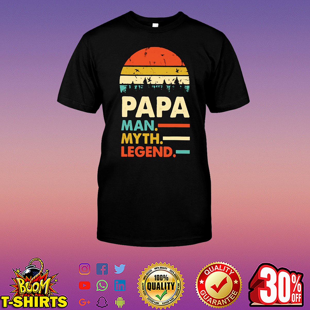 Papa man myth legend shirt
