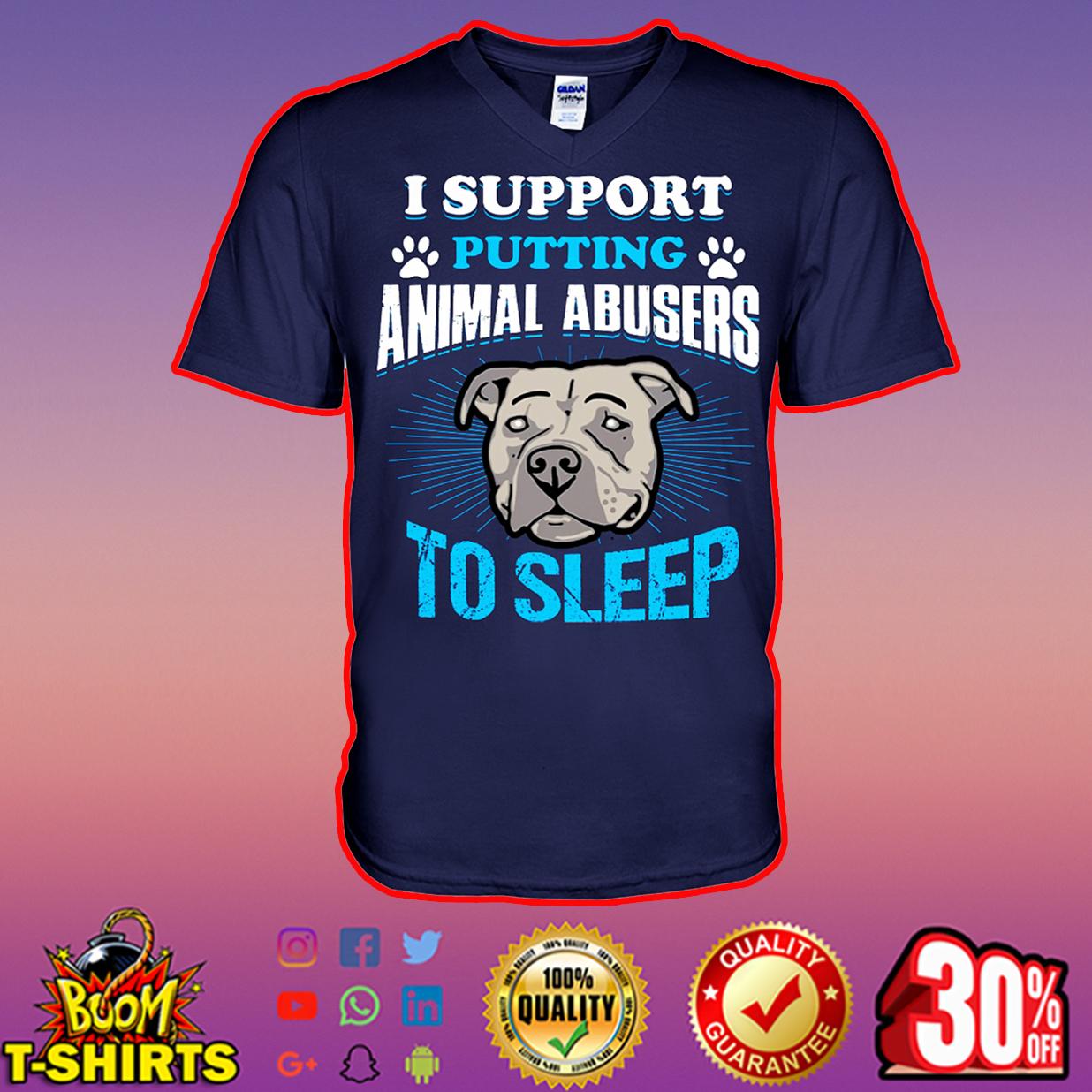 Pitbull I support putting animal abusers to sleep v-neck