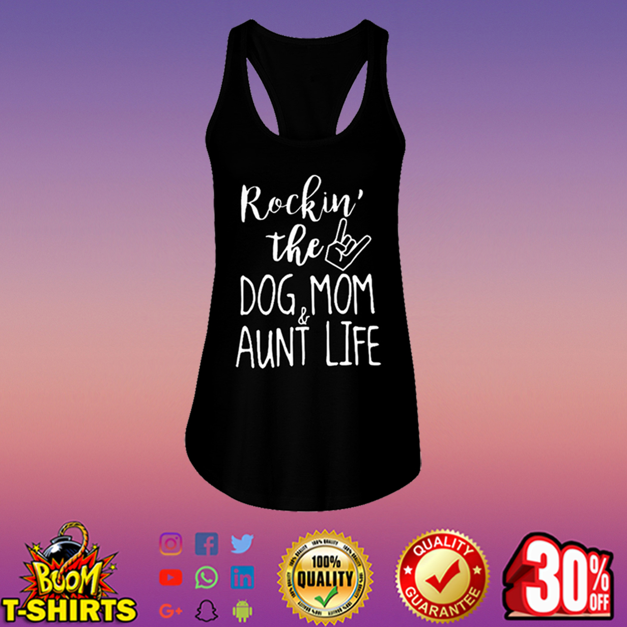 Rockin' the dog mom and aunt life flowy tank