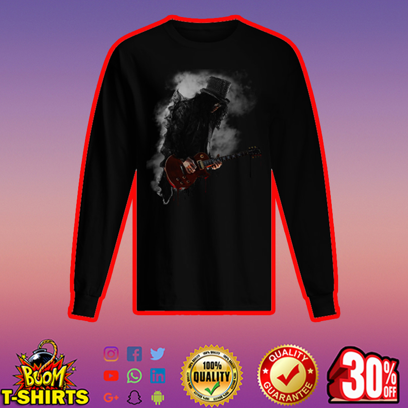 Slash play guitar Guns N' Roses long sleeved t-shirt