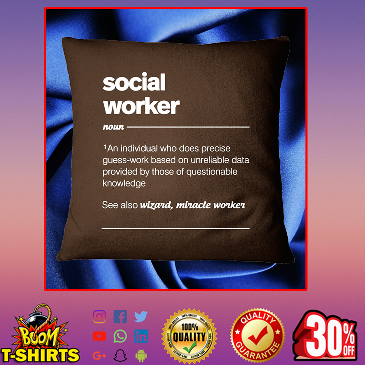 Social worker an individual who does precise guess-work based Pillowcase - chocolate