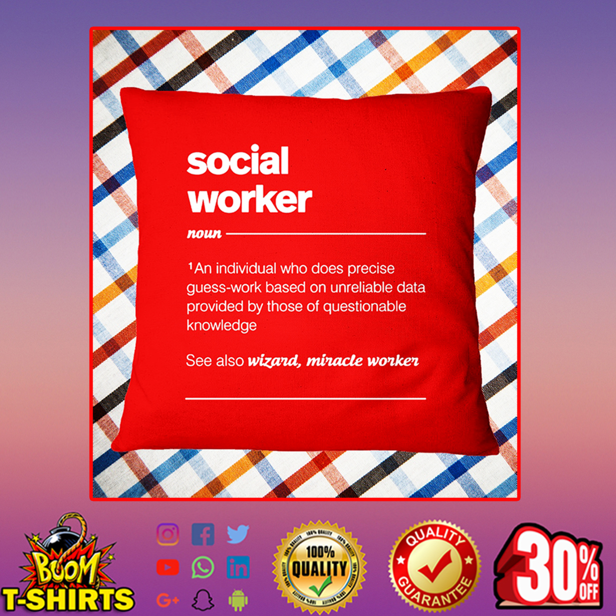 Social worker an individual who does precise guess-work based Pillowcase - true red