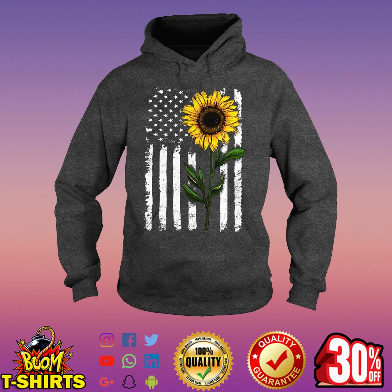 Sunflower American Flag hoodie