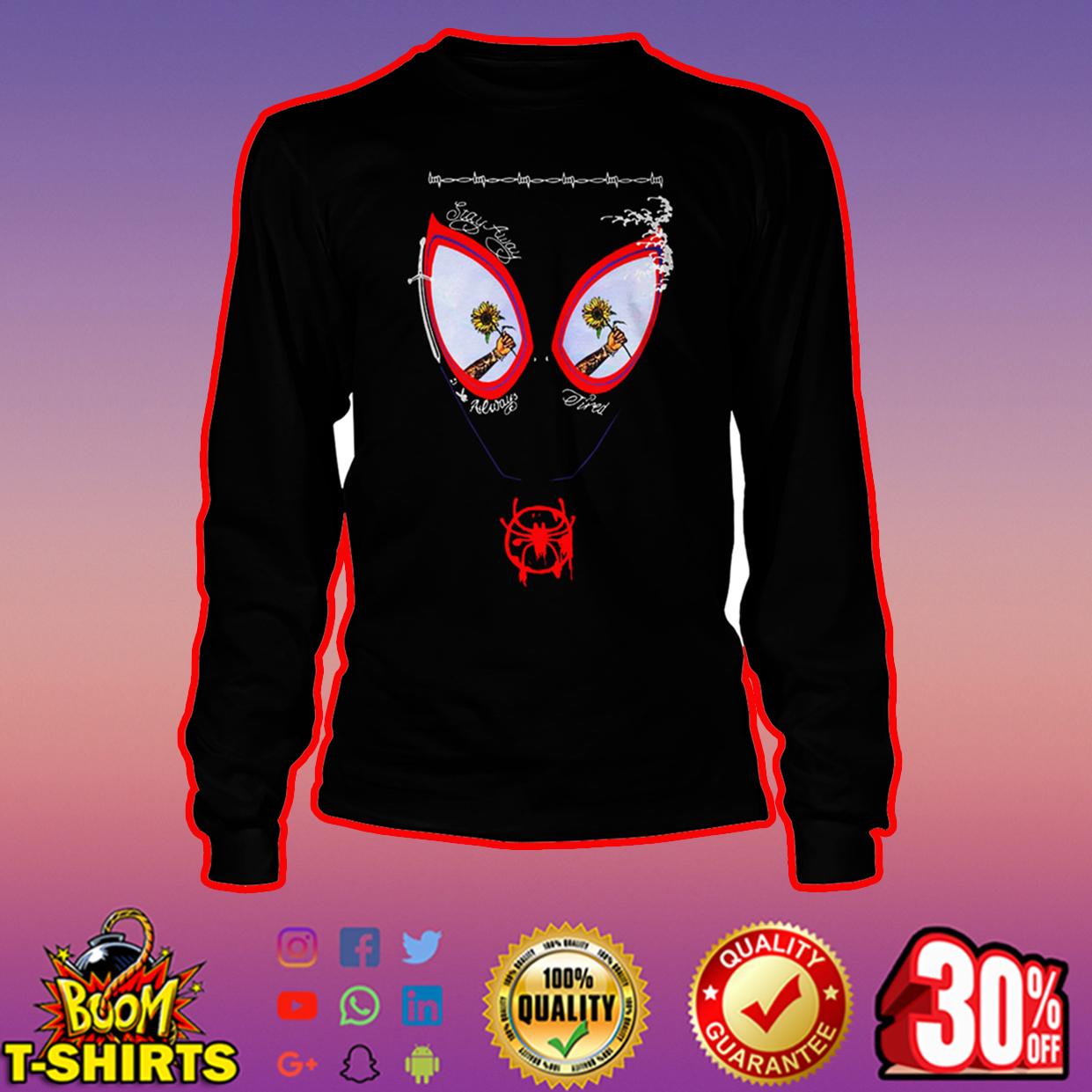 Sunflower Post Malone Spider-Man long sleeve tee