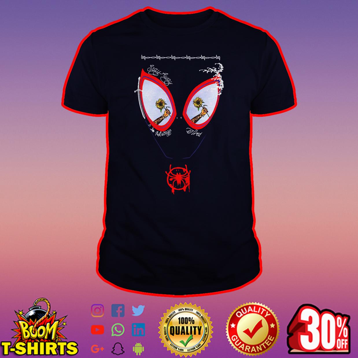 Sunflower Post Malone Spider-Man shirt