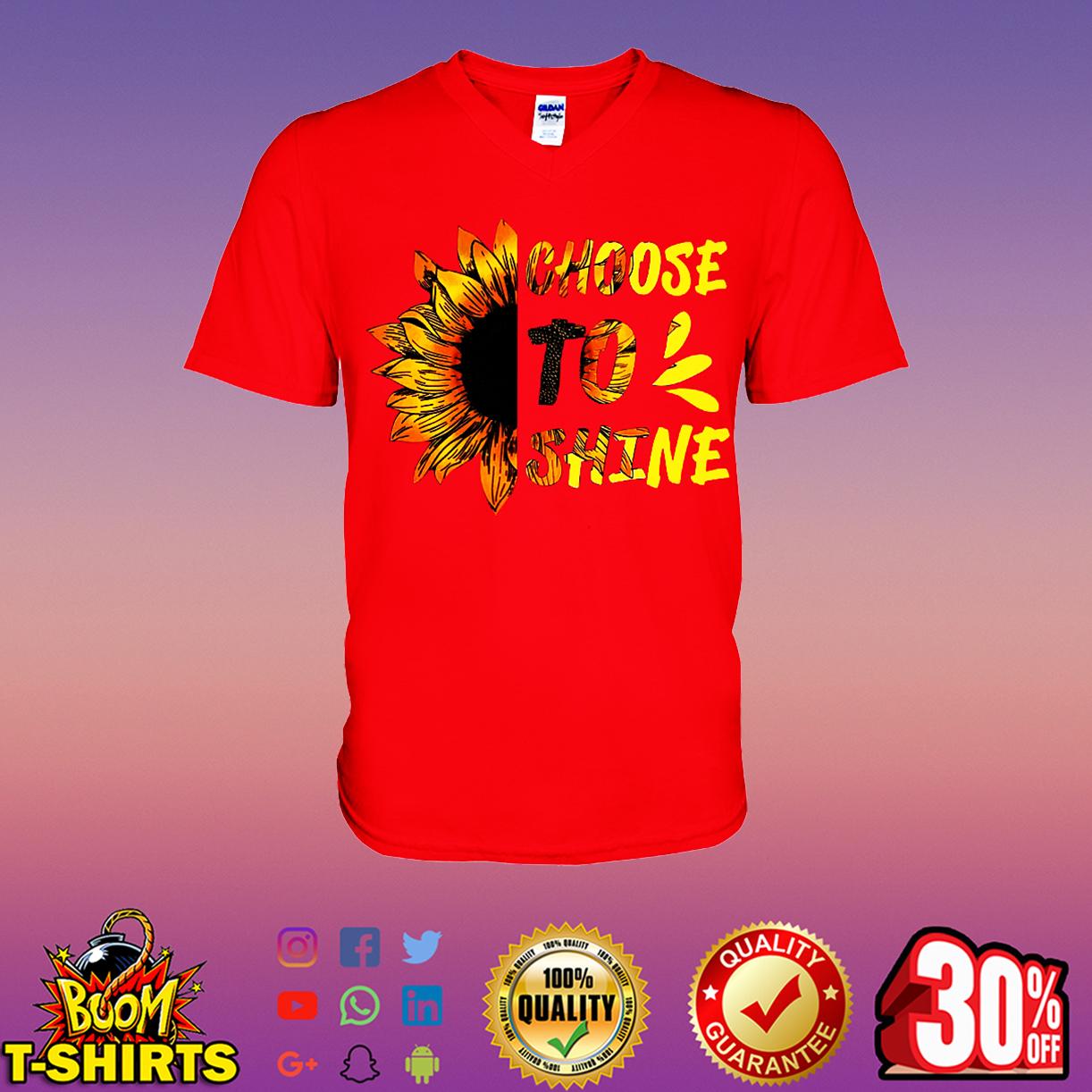 Sunflower choose to shine v-neck t-shirt