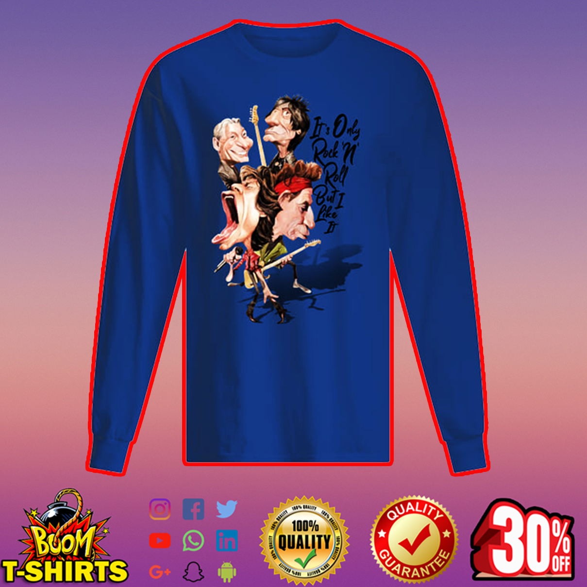 The Rolling Stones It's only Rock'n' Roll but I like it long sleeved t-shirt