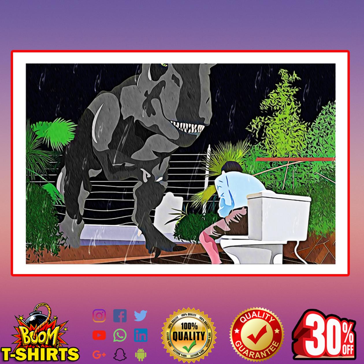 Toilet death scene Jurassic Park poster