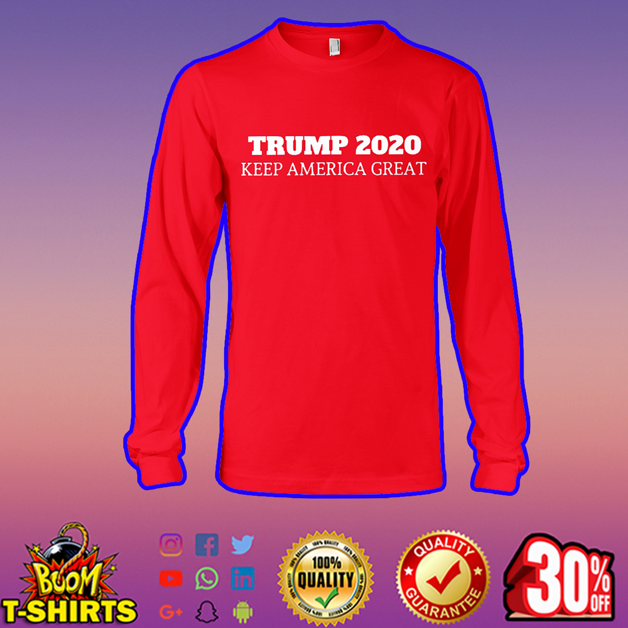 Trump 2020 keep America great long sleeve tee