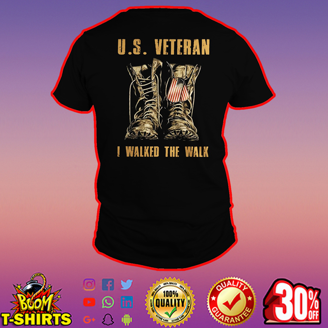 U.S. Veteran I walked the walk shirt