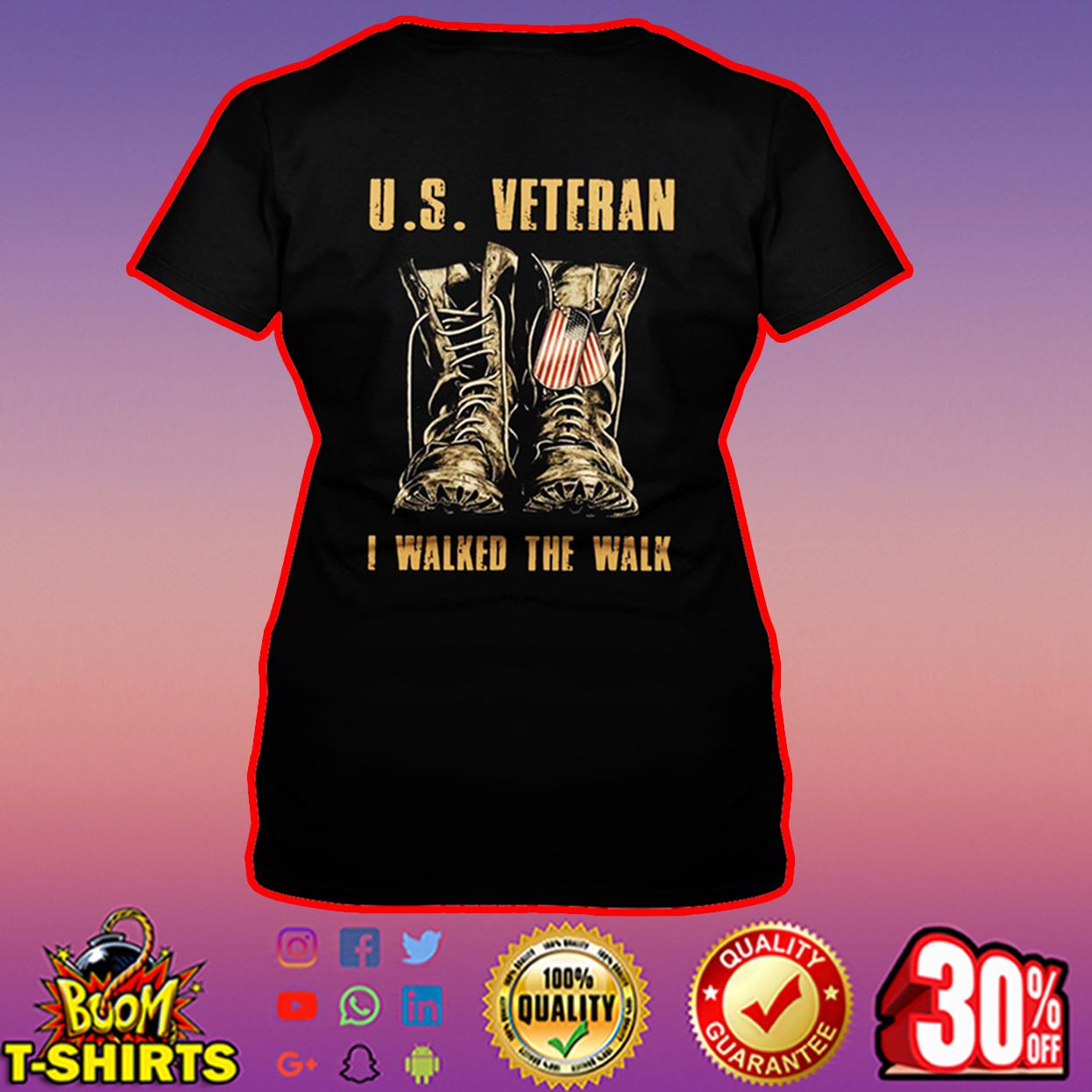 U.S. Veteran I walked the walk v-neck