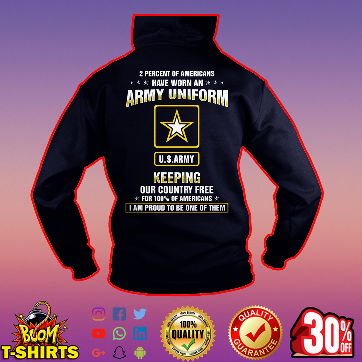 US Army 2 Percent of Americans have worn an Army uniform hoodie
