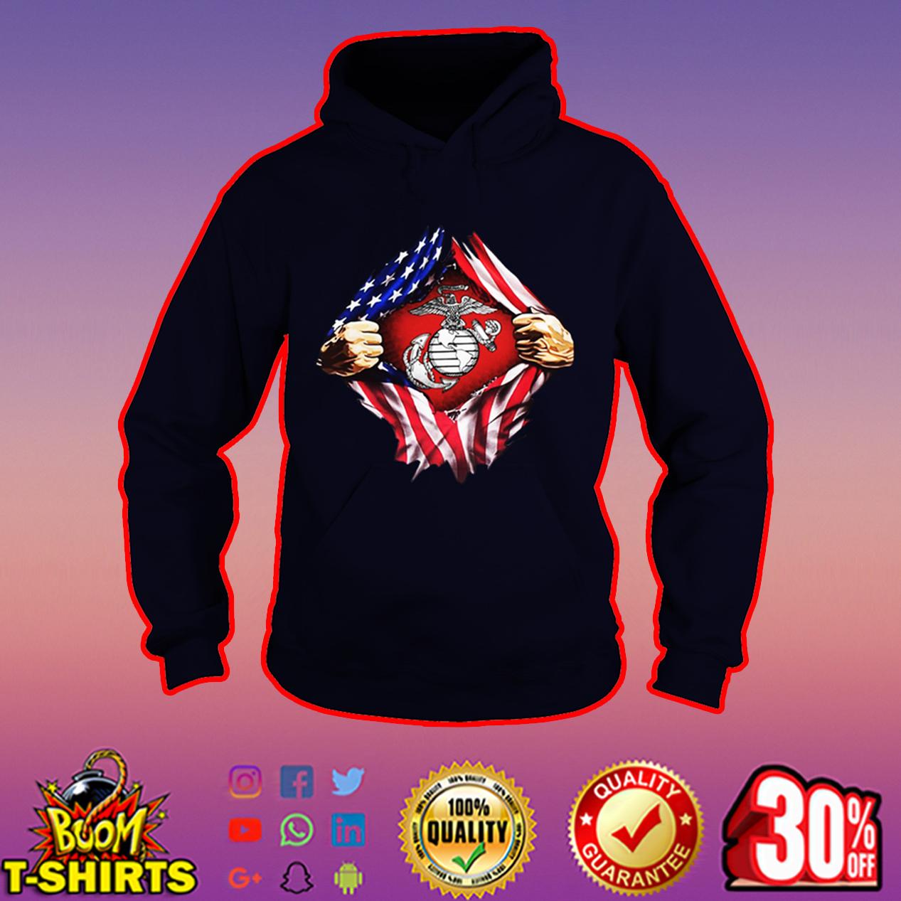 US Marines inside me hoodie