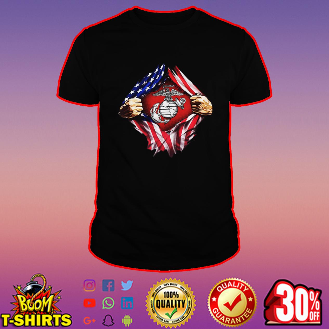 US Marines inside me shirt